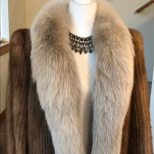 Mink and Fox coat luxury and in perfect condition